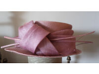 Mother of the bride pink hat