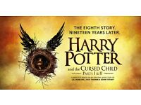***Harry Potter Cursed Child tickets THIS SUNDAY 23rd October Part 1 and Part 2