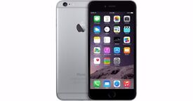 iPhone 6 64GB Space Grey on Vodafone with leather case