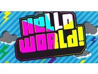 HELLO WORLD TICKETS Full Day Saturday 28/10/17 Helloworld Genting Arena Birmingham