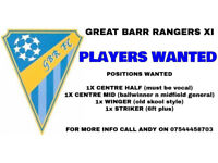 PLAYERS WANTED - GREAT BARR