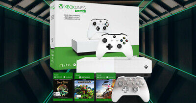 Microsoft Xbox One S All-Digital Edition Brand New Sealed 1TB Console + Bonus