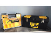 Large Stanley deep pro organiser&tool box,quick sale for both at only £40,immaculate, 1 month old