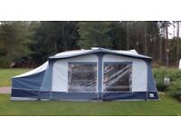 Dorema calypso size 7 caravan awning (800x840cm) with annex and inner bedroom pod.