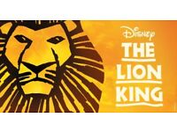 The Lion King sat 18th Nov 7.30pm