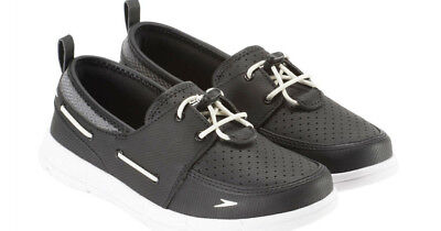 bc63e3441396 New Speedo Women s Port Water Shoes Ladys  Boat Shoes Black Gray Size 8