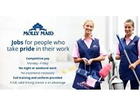 MOLLY MAID - Domestic Cleaners required - No Weekends