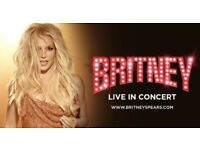 Britney Spears Scarborough BELOW COST Orange Block Seated Tickets x4