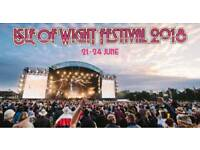 Isle of Wight festival camping tickets