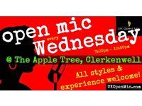 UK Open Mic | 7pm | EVERY WEDNESDAY @ The Apple Tree, Clerkenwell (Farringdon/Holborn/King's Cross)