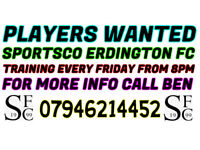 PLAYERS WANTED FOR NEW SUNDAY MORNING TEAM