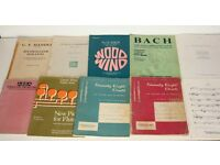 Joblot Flute and Clarinet Sheet Music Books 78 Duets Solo Graded Wind Scales