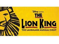 The Lion King Sat 21st Jan 7.30