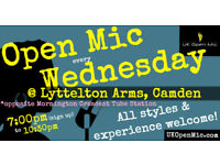 UK Open Mic | 7:00 pm | WEDNESDAY @ Lyttelton Arms, Mornington Crescent (Camden / King's Cross)