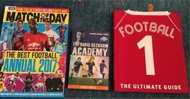 Football books x 3