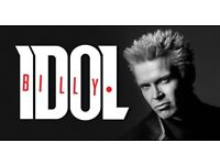 BILLY IDOL LIVE AT THE BRIXTON ACADEMY STALLS STANDING TICKETS £40 EACH