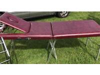 Leather massage table/beauty bed