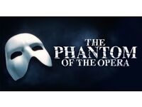 2 X Tickets for Phantom Of The Opera 2nd of September £55 each