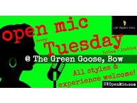 UK Open Mic | 7pm | EVERY TUESDAY @ The Green Goose, Bow (Mile End/Hackney/Stratford/Tower Hamlets)
