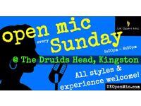 FAMILY FRIENDLY UK Open Mic | 5pm | EVERY SUNDAY @ The Druids Head, Kingston (Richmond, Surbiton)