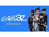 4 x Gorillaz Humanz Tour Tickets - Arena Birmingham (BarclayCard Arena) - Sat 2nd Dec 2017