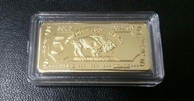 Lot of 10- 5 GRAM GOLD BUFFALO BULLION BARS 100 MILLLS .999 FINE 24K BULLION