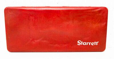 Starrett No. 445 Depth Gage Micrometer 0-3 Red Padded Case Usa