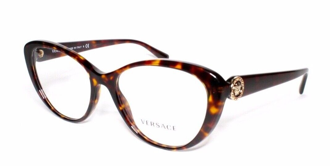 Versace Eyewear 3246-B 180 54.17 140 Tortoise Brown Butterfl