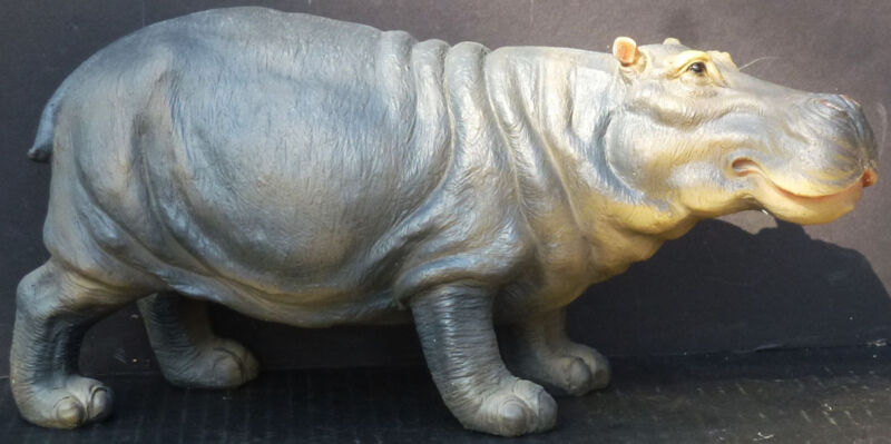 "GROUSING  Small Hippopotamus    Statue Figurine  H5.5"" x L12.5"""