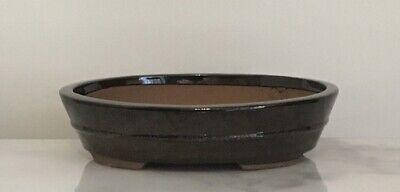 Bonsai Pot. 31 cm Large Brown Oval Bonsai Pot