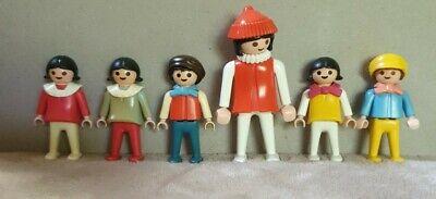 Vintage Playmobil Victorian Mansion House 5300 Set of 6 Children Figures
