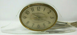 Vintage General Electric Mid-Century Clear Lucite Alarm Clock Model 7272 Working