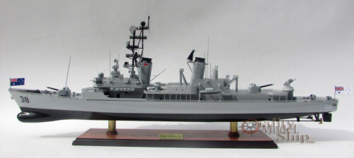 "HMAS Perth D38 Destroyer - Handcrafted War Ship Display Model 36"" NEW"