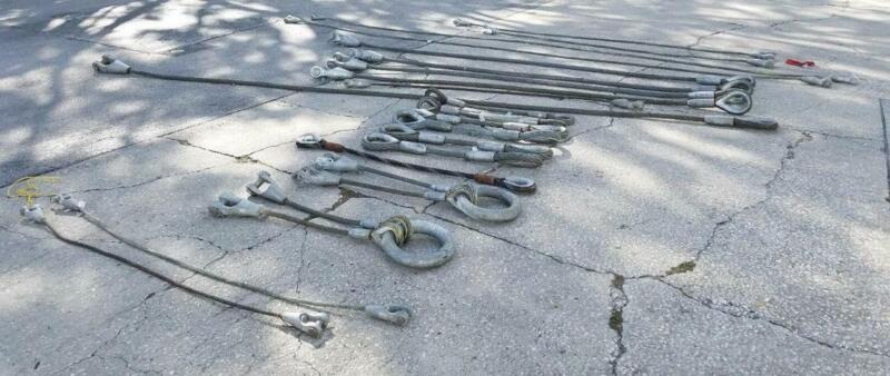 Lot of 21 Wire Rope Steel Cable