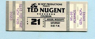 1978 Ted Nugent Golden Earring Unused Concert Ticket Jackson Cat Scratch Fever