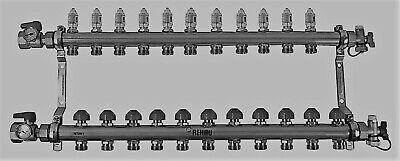 Rehau Stainless Steel Pro-balance Radiant Floor Heat Manifold- 11 Circuit