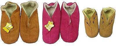Damen Herren Lammfell Hausschuhe Pantoffeln Mokassins Fell Echtleder Wildleder