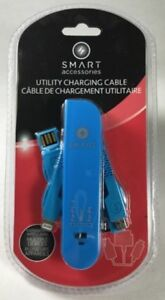 SMART key chain, iPhone utility charging cable and cell access.