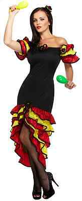 Damen Sexy Spanischer Flamenco Tänzer Kostüm Kleid Outfit - Tänzer Outfits Kostüme
