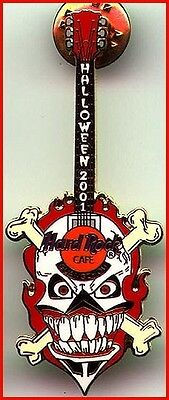 Hard Rock Cafe GUANGZHOU 2001 HALLOWEEN PIN Skull & Crossbones GUITAR HRC #2732](Guangzhou Halloween)