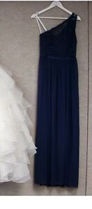 Dark blue long MOH / bridesmaid dress