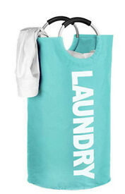 Large Laundry Basket Collapsible, Fabric Laundry Hamper, Portable Washing Bin