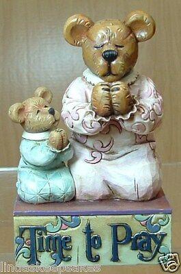 Jim Shore & Boyds Bears praying MOMMA BEARYBLESS & SWEET PEA ..TIME TO PRAY ()