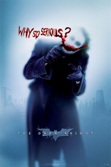 Batman Why So Serious Poster Joker Heath Ledger Dark Knight