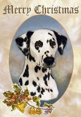 Dalmatian Dog A6 Christmas Card Design XDAL-5 by paws2print