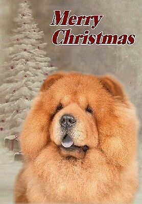 Chow Chow Dog A6 Christmas Card Design XCHOW-7 by paws2print