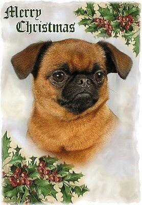 Brussels Griffon Dog A6 Christmas Card Design XGRIFFON-8 by paws2print