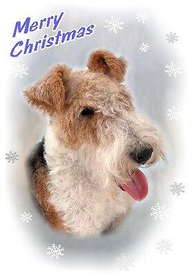 Fox Terrier Dog A6 Christmas Card Design XFOXWIRE-9 by paws2print