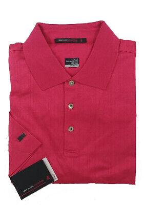 NIKE Golf NEW Tiger Woods L, XL 4XL DRI-FIT Mercerized Polo Shirt Color RAZZ RED
