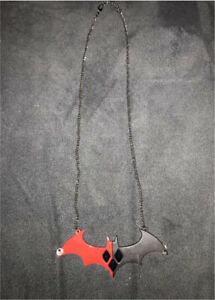 Harley Quinn X Batman necklace